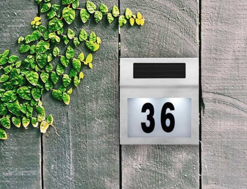 Solar Powered House Numbers